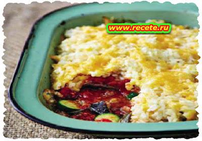Veggie & rice bake