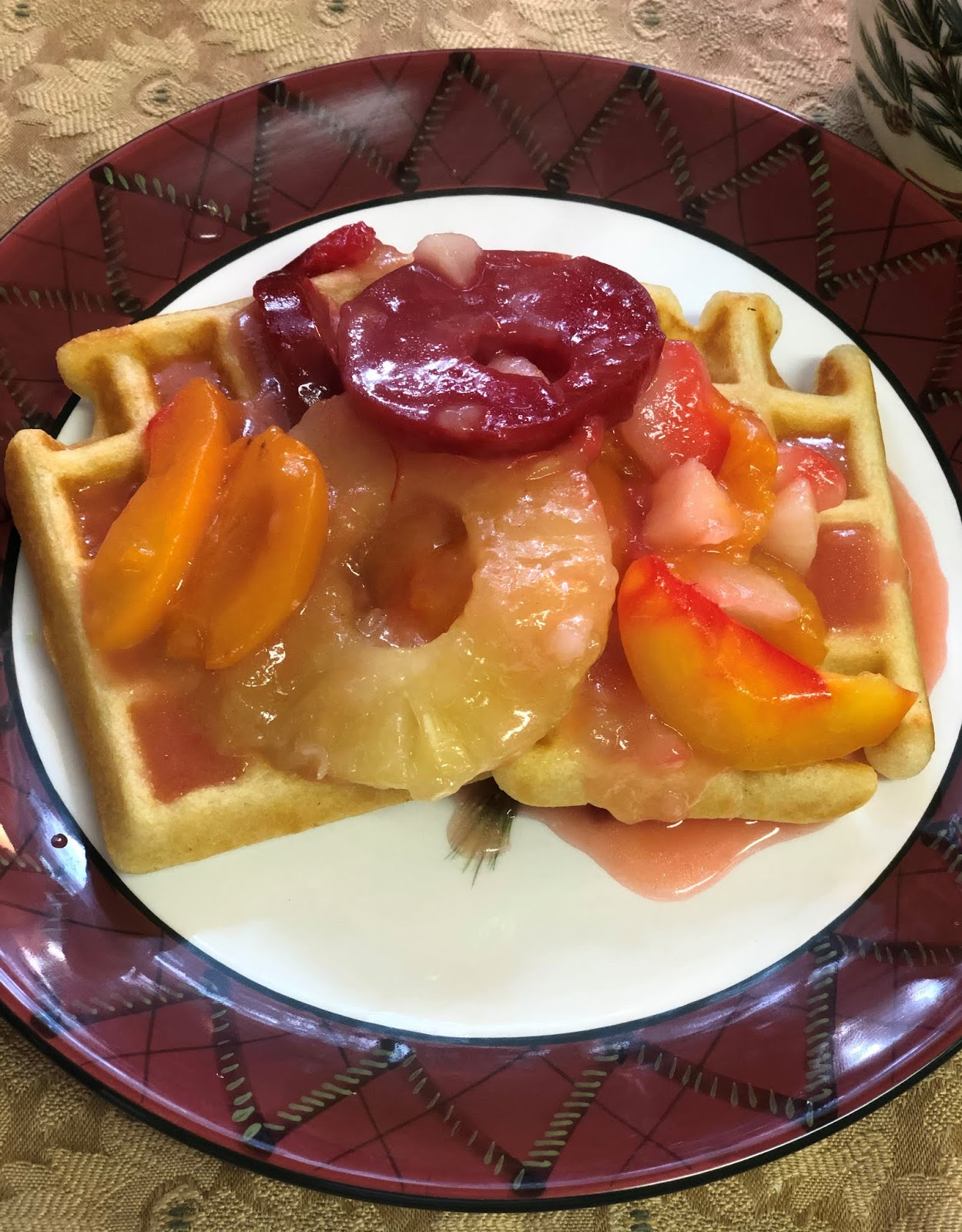 Hot Sherried Fruit Bake