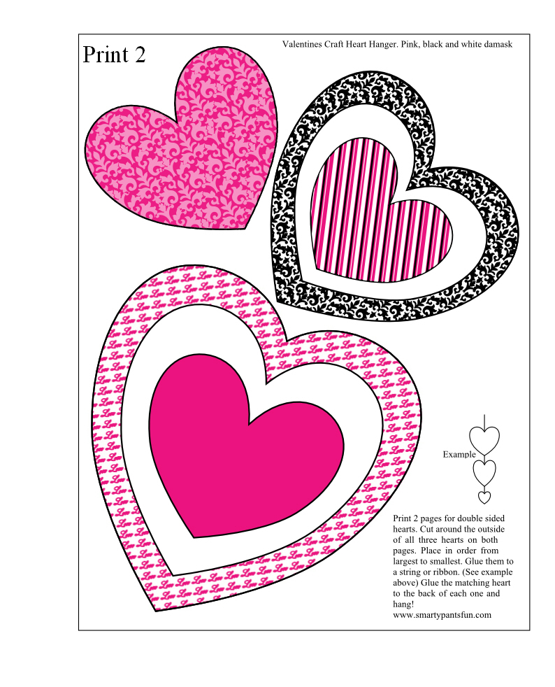 Lucrative image with regard to printable valentine craft
