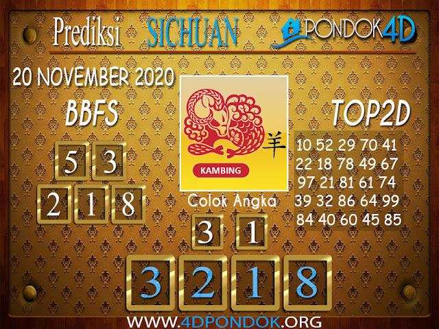 Prediksi Togel SICHUAN PONDOK4D 20 NOVEMBER 2020