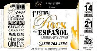 1er Festival Rock En Español Bogotá 2018
