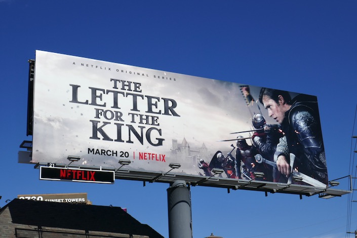 Letter for the King series launch billboard