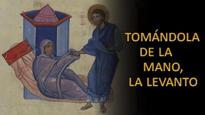 Evangelio según san Marcos (1, 29-39): Tonándola de la mano, la levanto