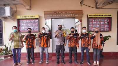 Sapma PP Bersama Polres Tebingtinggi Siap Ciptakan Kondusifitas Ramadhan