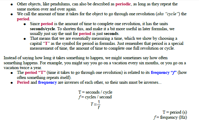Circular motion,instantaneous velocity,centripetal acceleration,centrifugal force,frequency,hertz,periodic motion,