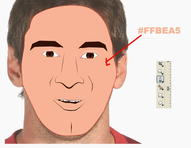 membuat karikatur, tutorial karikatur corel draw