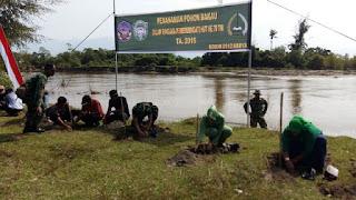Antisipasi Abrasi, Kodim Abdya Tanam Ratusan Mangrove