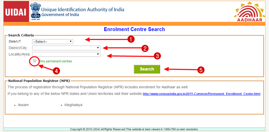 portal aadhar card search