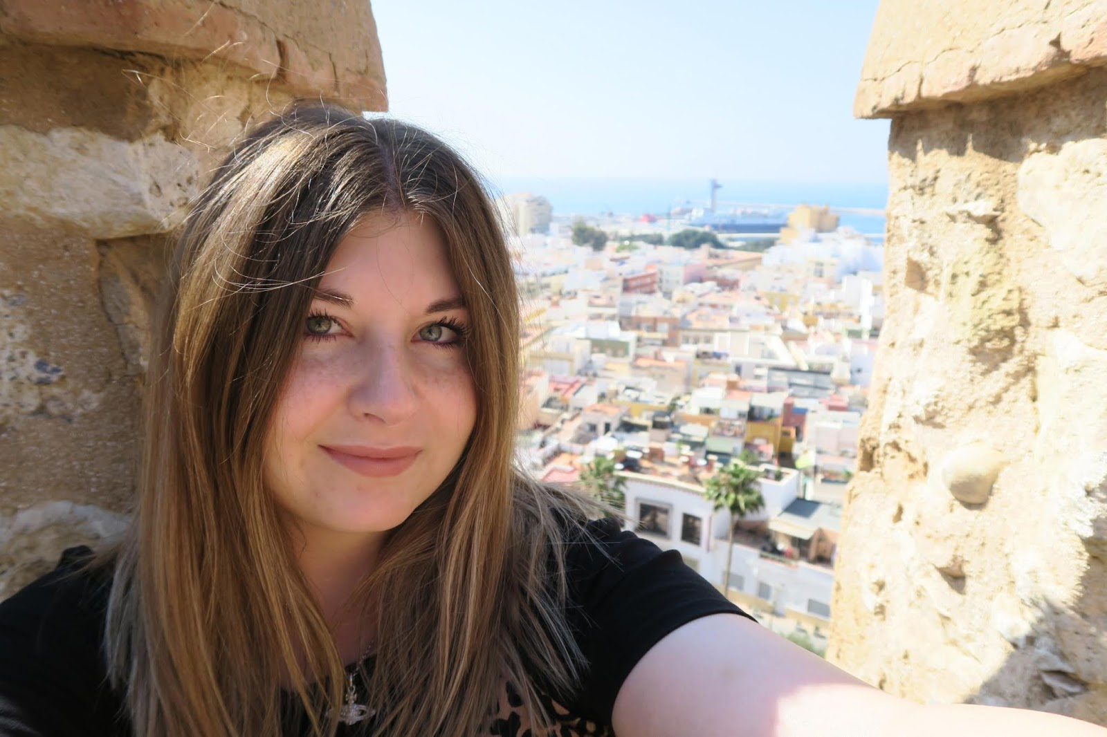 Photo of myself at the top of Almeria Alcazaba
