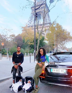 Singer Emma Nyra Steps out With Twinskid & Brother in Paris