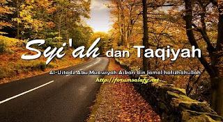 Aqidah Syiah: Taqiyah Hukumnya Wajib, Meninggalkan Taqiyah = Meninggalkan Shalat