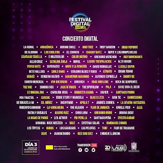 Conciertos Festival Digital 20 años de LAUD
