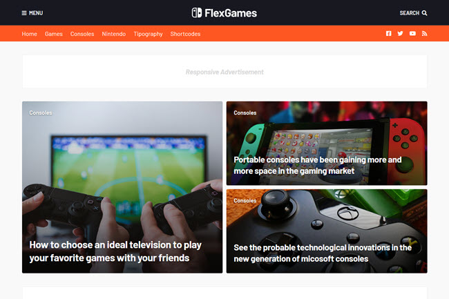 FlexNews - Responsive Blog & Magazine Blogger Template