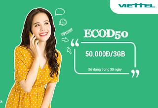 Gói cước ECOD50 Viettel