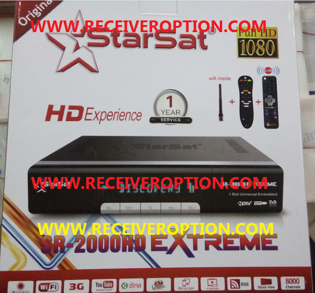 STARSAT SR-2000HD EXTREME RECEIVER NEW SOFTWARE