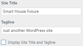 uncheck the box Display Site Title and Tagline