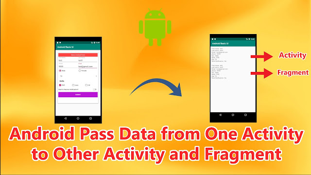 android pass data from one activity to other and fragment