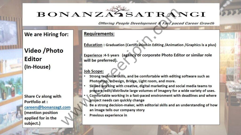 bonanzagt.com - Bonanza Garments Industries Pvt Ltd Jobs 2021 in Pakistan