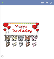 Happy Birthday Rabbits Facebook Sticker