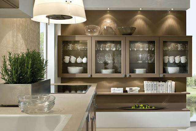 Modern kitchen crockery unit designs