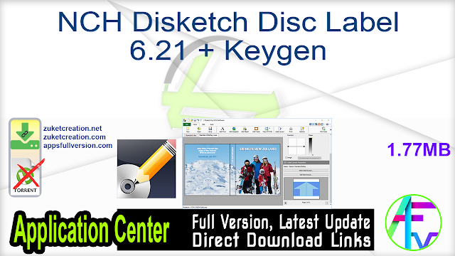 NCH Disketch Disc Label 6.21 + Keygen
