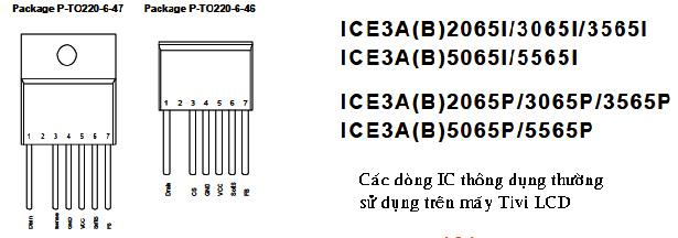 Hình 53 - Hình dáng và mã hiệu của IC công suất nguồn thường dùng trên Tivi LCD