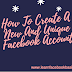 How to create a new and Unique Facebook Account