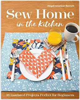table placemat in blue and orange for a book cover