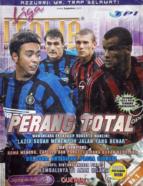 FOOTBALL MAGAZINEDERBY INTER MILAN VS AC MILAN 2002