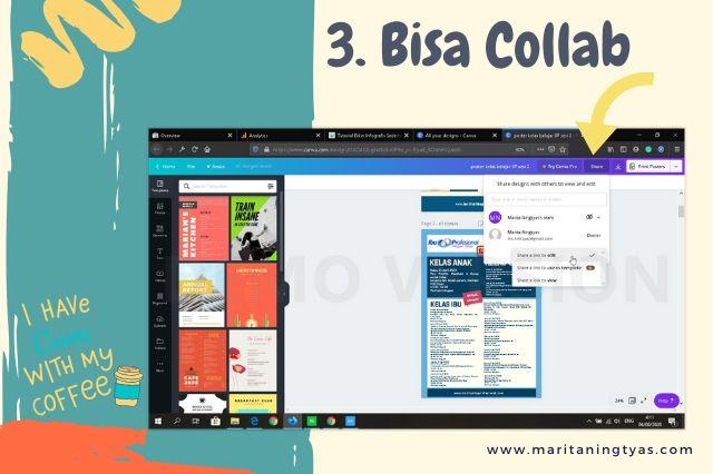 cara membuat infografis blog collab di canva editing bersama teman