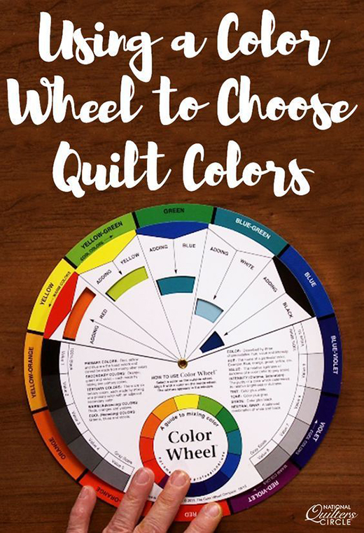 How to Use a Color Wheel to Choose Quilt Colors