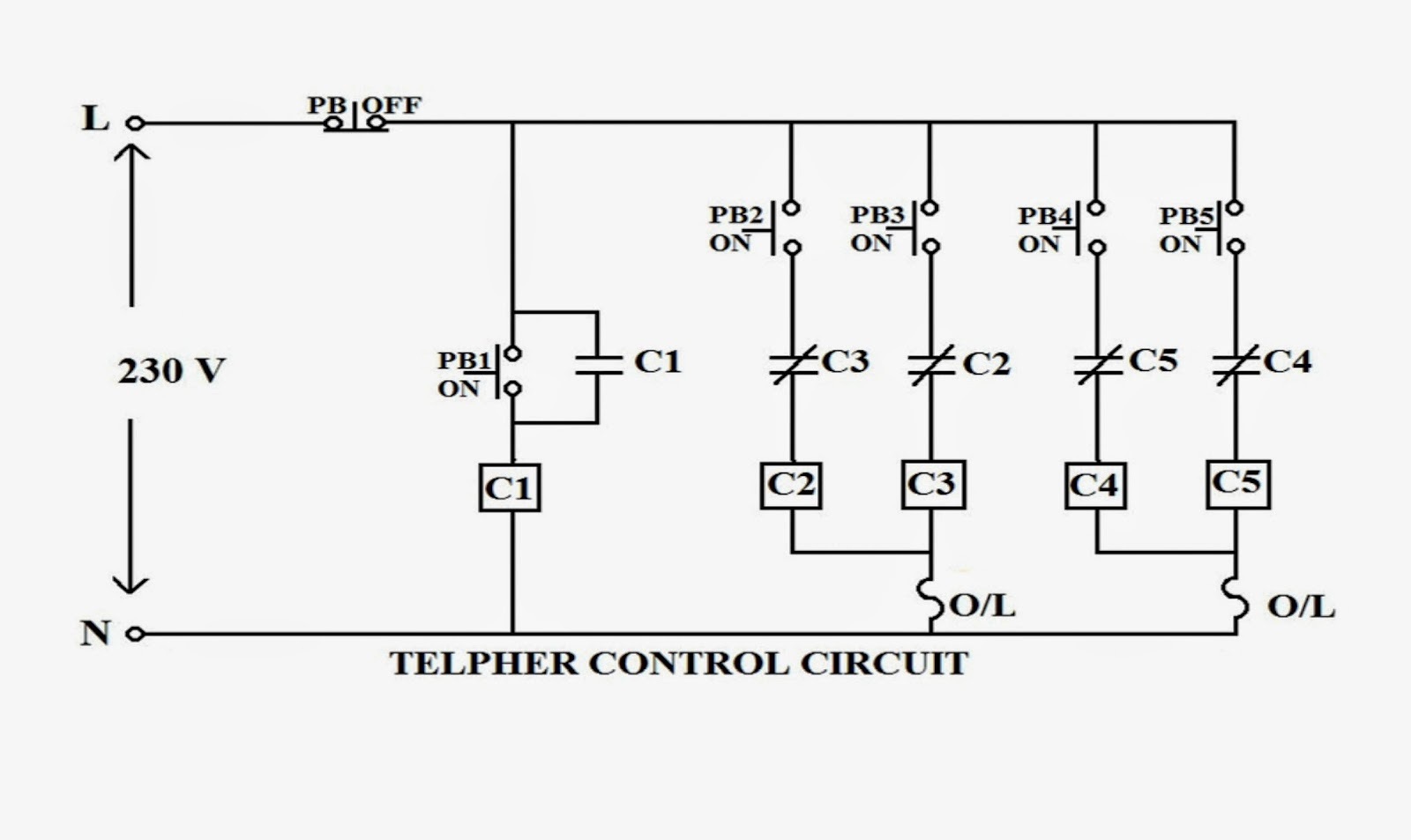 Training Report On Bokaro Steel Plant Common Electrical Doubts Captive Power Block Diagram The Control Circuit Is Similar To Two Way Starter Except They Dont Have Hold Facility For Both Motors Which Means Parallel Connection Of Auxiliary