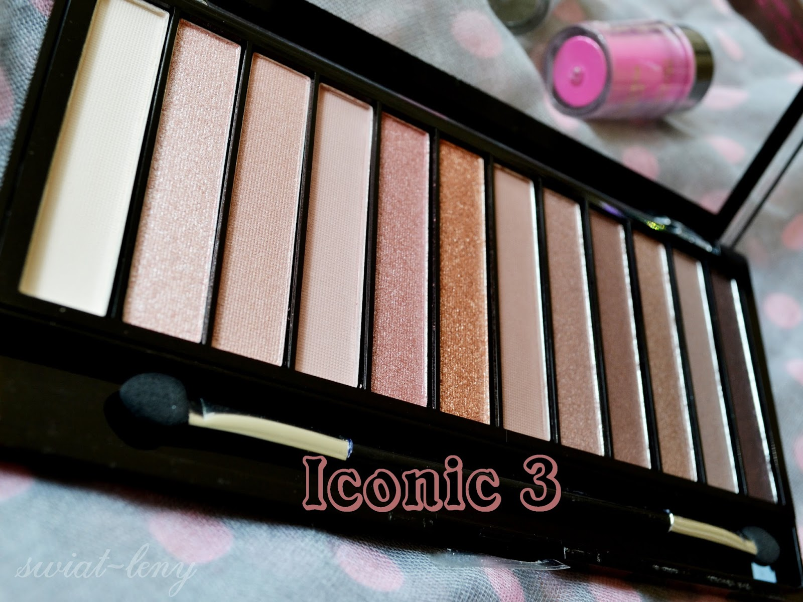 W7 In the nude vs Makeup revolution Iconic 3