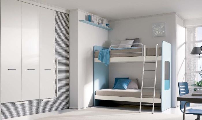 Dormitorios para dos ni os con camas litera dormitorios - Literas para jovenes ...