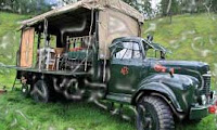 The Beermoth, Inverness-Shire is a creatively transformed Commer 1950 fire truck in a hotel in 2011. It has a wooden floor, double-bed of Victorian brass and stove for burning wood. It also provides you lots of fresh air.