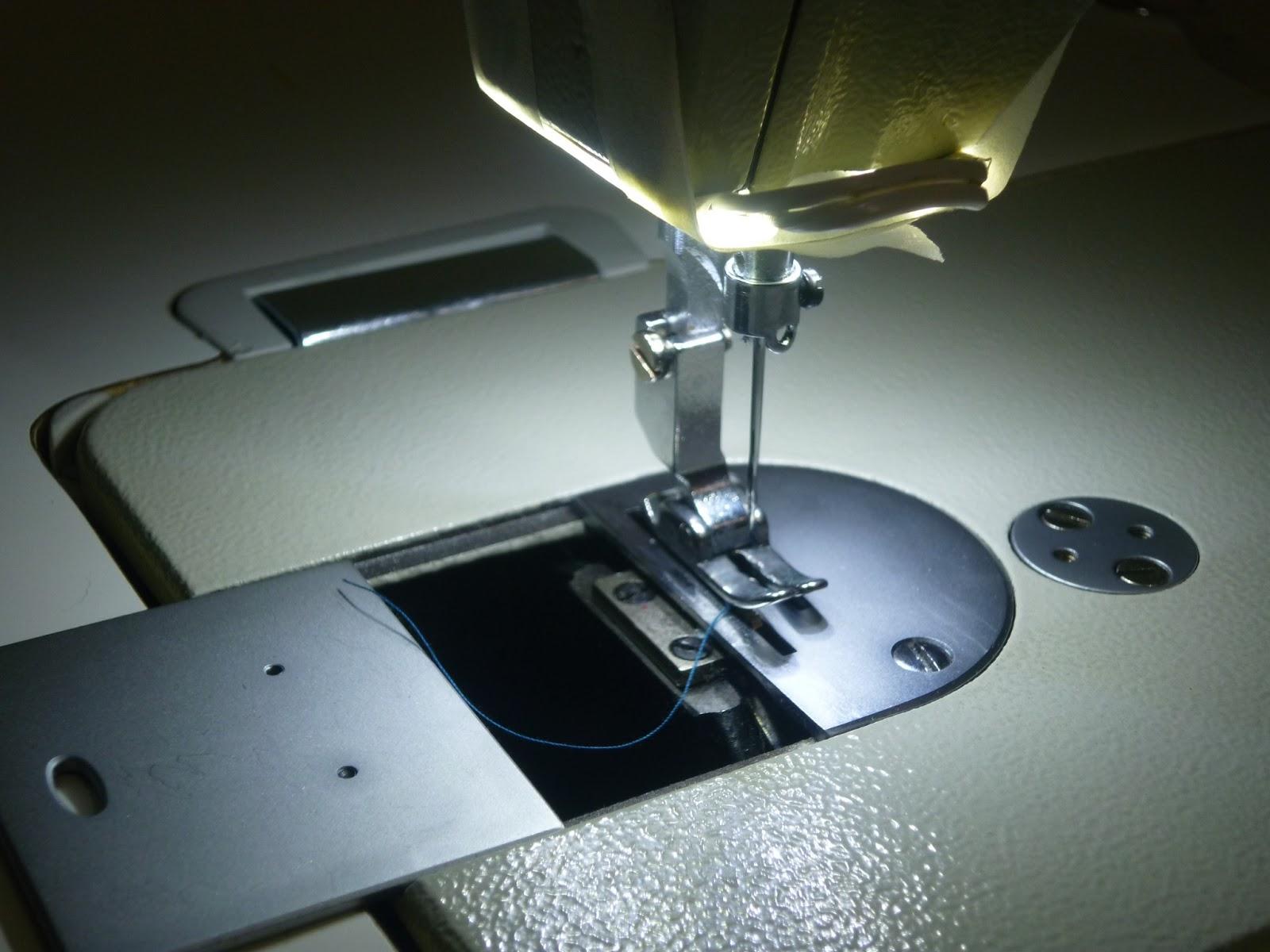 Colocar luces led en la maquina de coser industrial