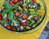 Lentil Salad with Tomatoes, Dill & Basil (A Veggie Venture)