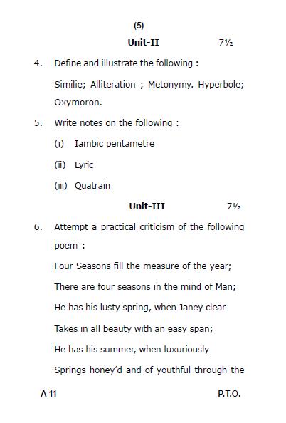 LU B.A English Functional Skills in Language & Literature