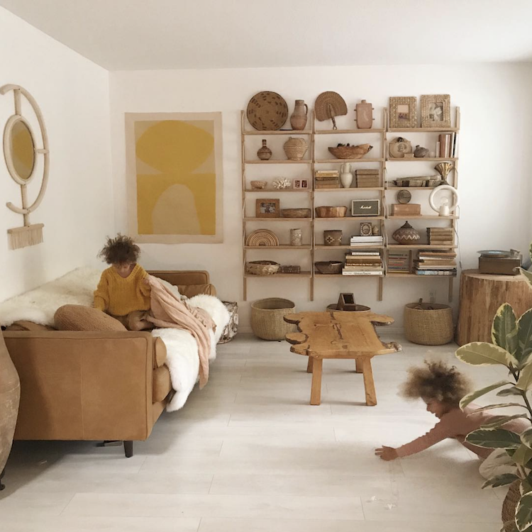 The Golden, Vintage-Inspired Home of Sarah Shabacon