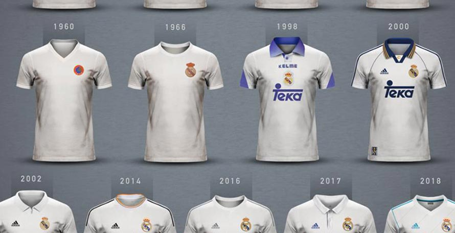 quality design 5cdc2 d6a89 Here Are All Champions League-Winning Real Madrid Kits ...