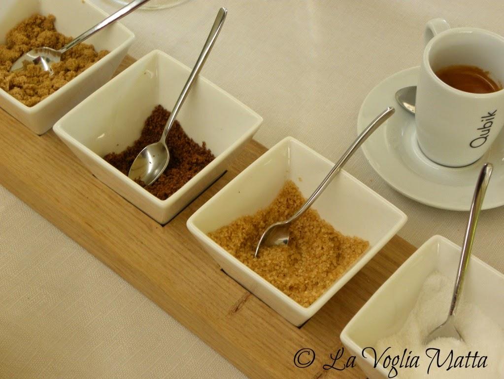 Bak a Grozzana Trieste caffè con zuccheri diversi