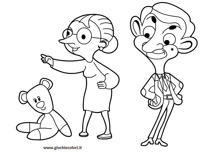 mr bean coloring pages - photo#21