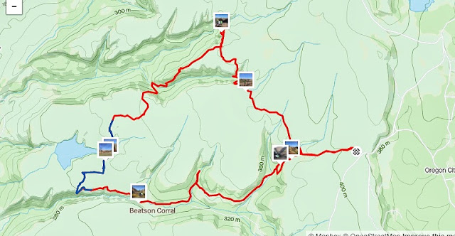 Table Mountain - Beatson & Phantam Falls Loop map