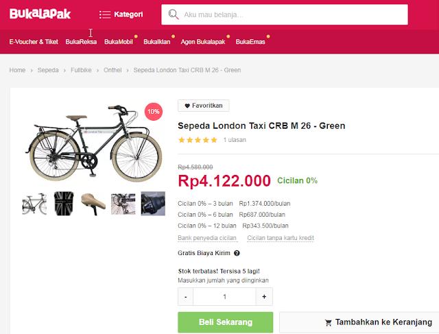 Bukalapak Sepeda Sediakan Berbagai Jenis Kendaraan Roda Dua untuk Wanita dan Pria