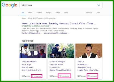 Google Algorithm - #10 - Freshness - New Search Signals of Google