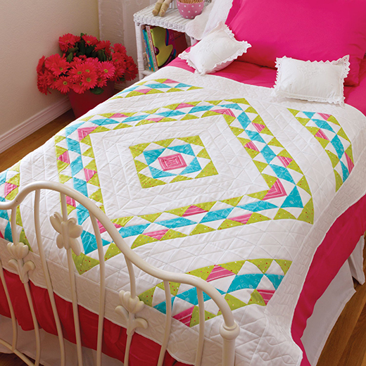 Falling Diamonds Quilt Free Pattern