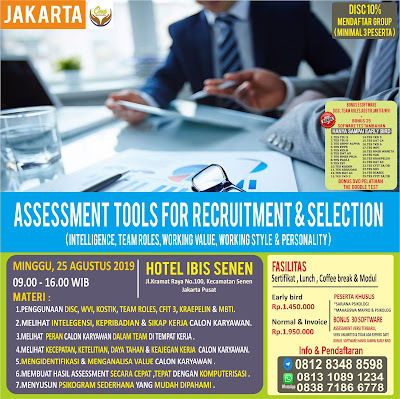 Seminar Psikologi Jakarta | Training Alat Tes Psikologi | WA: 0838-7186-6778