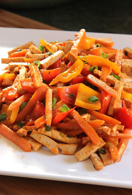 Sweet and Sour Tofu Stir Fry: Simple and easy way to eat less meat.