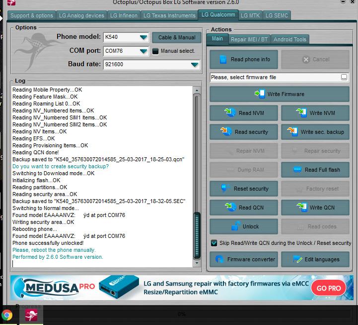 Liberacion de Lg stylo 2 k540 cricket - CLAN GSM