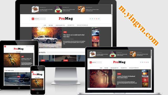 ProMag template blogger